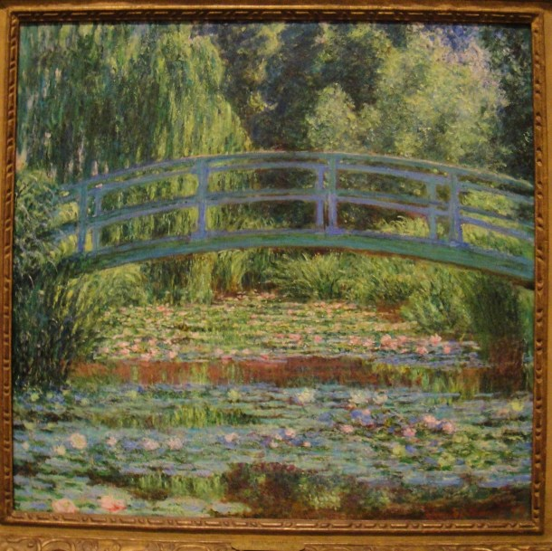 claude monet the japanese footbridge and the water lily pool giverny