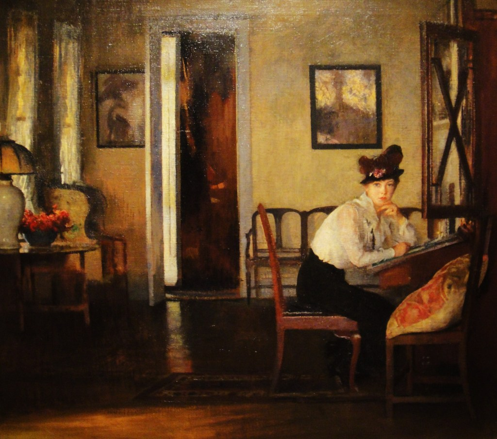 edmund tarbell girl writing
