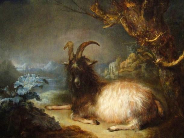 gerrit dou landscape with a goat