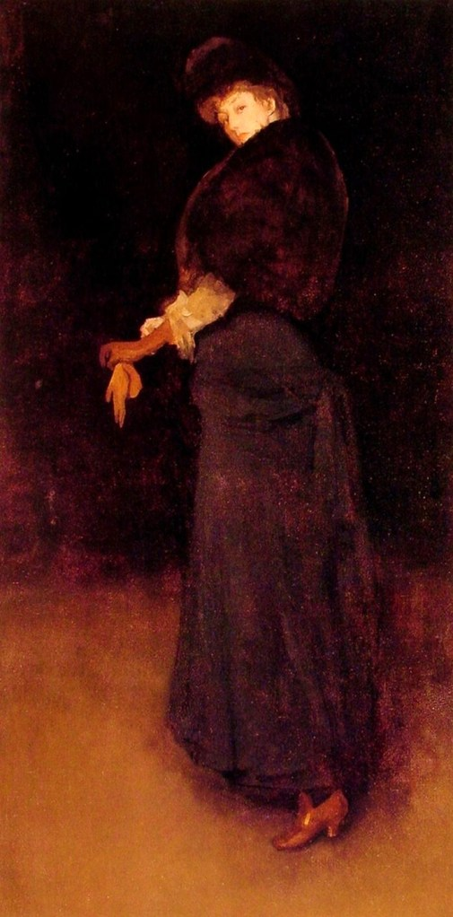 james abbot mcneill whistler arrangement in black the lady in the yellow buskin