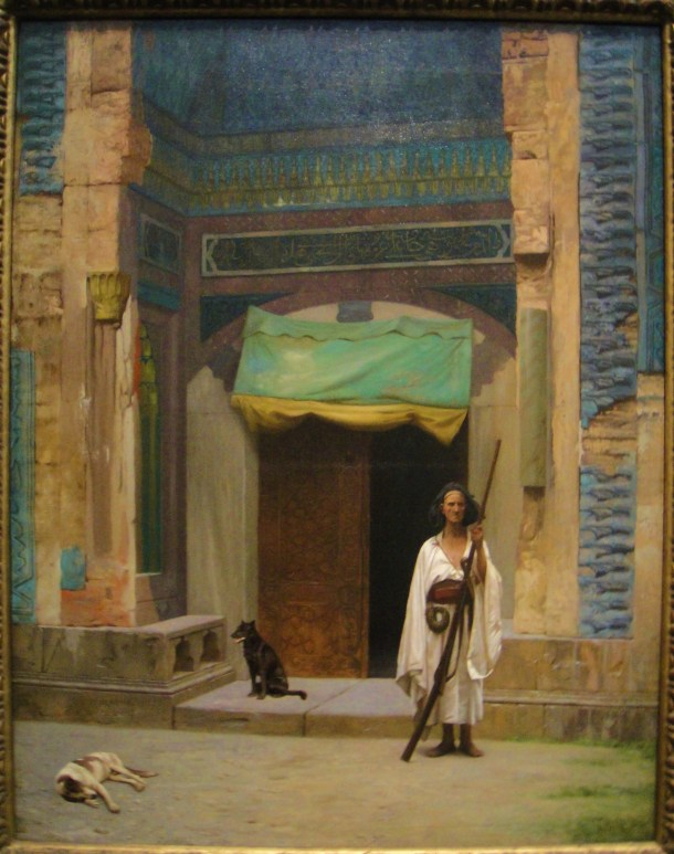 jean leon gerome portal of the green mosque sentinel at the sultans tomb