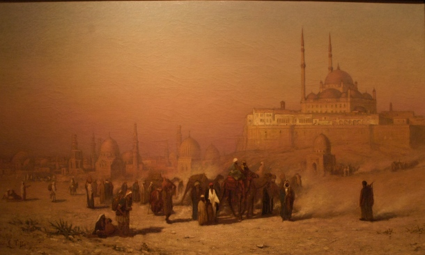Louis-Comfort-Tiffany-On-The-Way-Between-Old-And-New-Cairo-Citadel-Mosque-of-Mohammed-Ali-and-Tombs-of-the-Mamelukes