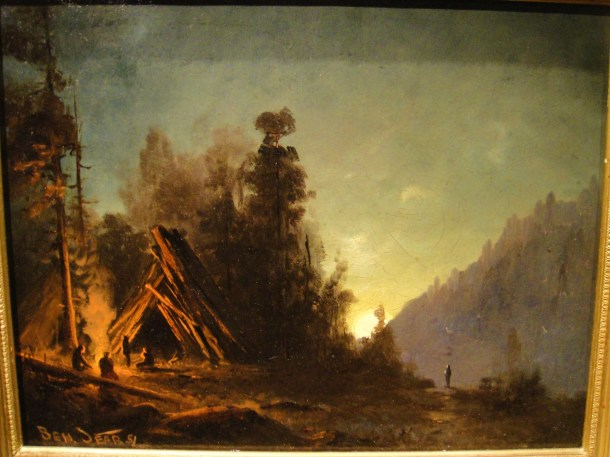benjamin w sears night scene in sierra