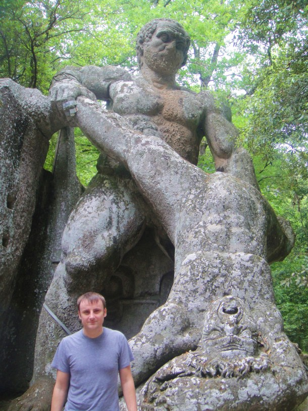 bomarzo the wrestling colossi