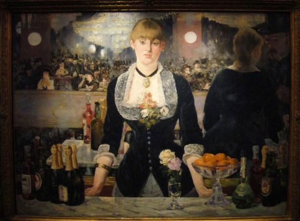 manet a bar at the folies