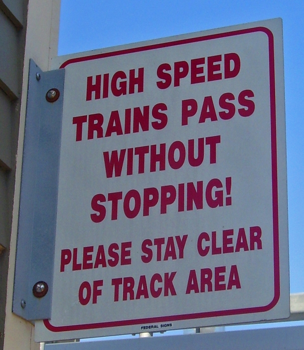 train warning sign