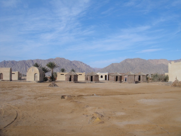 empty beach huts sinai