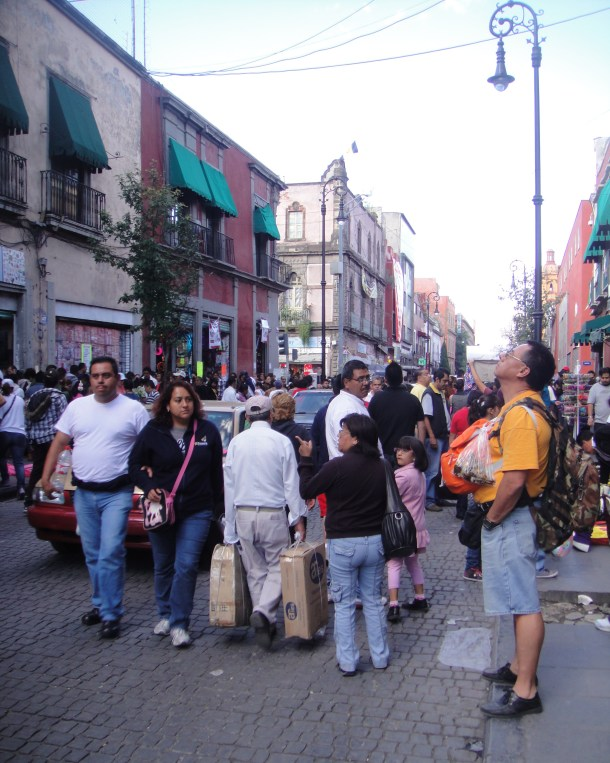 crowded streets mexico city