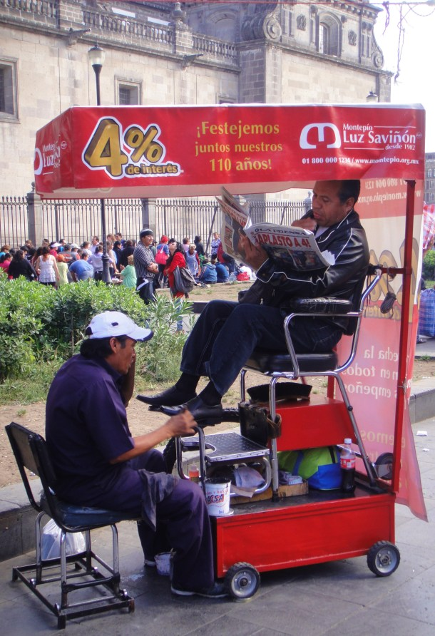 shoeshine mexico city