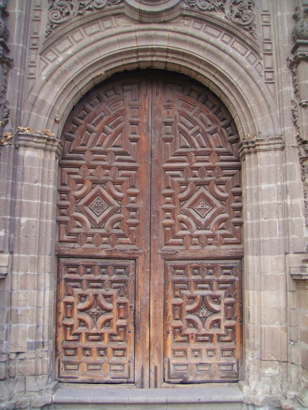 wooden door mexico city