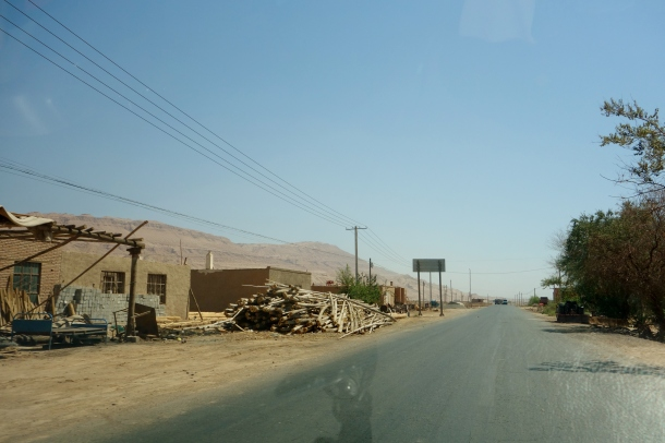 checkpoint ahead in xinjiang where we were detained