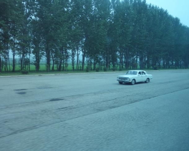 car-on-north-korea-highway