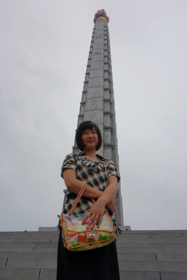 north-korean-guide-kim-at-juche-tower