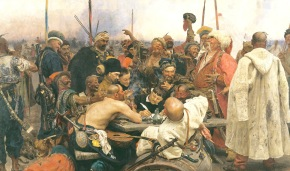 Painting of the Day: Reply of the Zaporozhian Cossacks to Sultan Mehmed IV of the Ottoman Empire