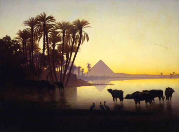 Charles-Théodore- Frère-Along-the-Nile-at-Giza