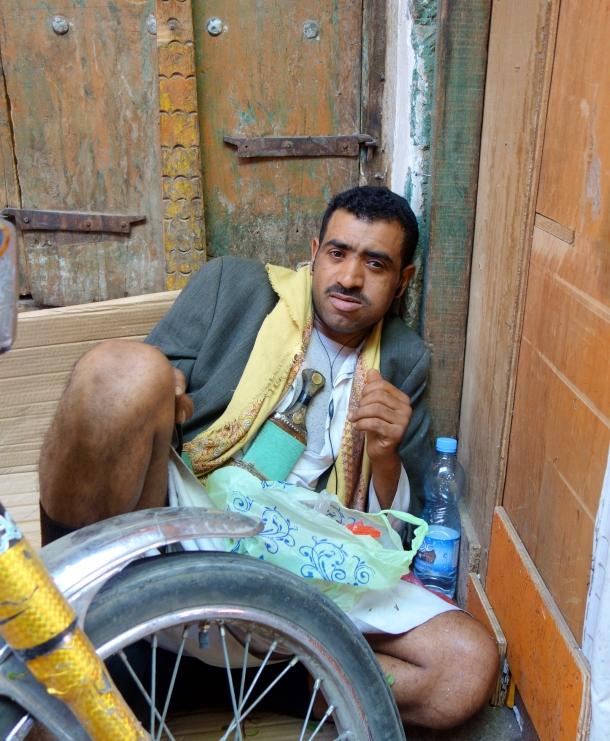 man-high-on-khat-yemen