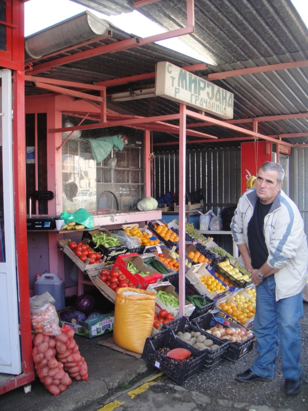 A merchant in the Serbian enclave of Gracanica