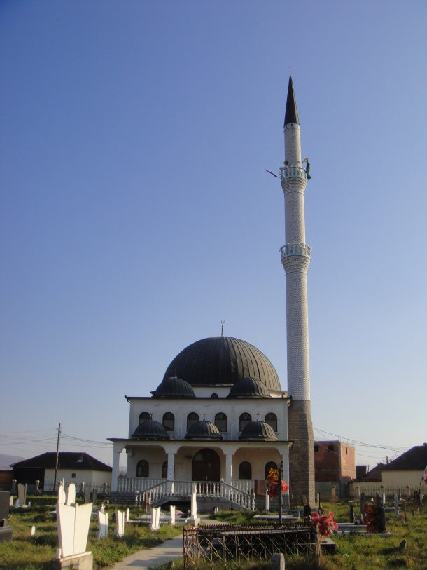 A mosque in the countryside of Kosovo