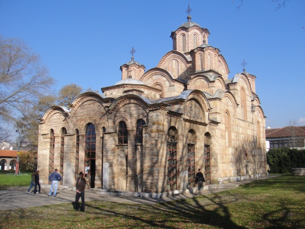 Gracanica Monastery, rebuilt by a Serbian king in 1321 on the ruins of a 6th-century Christian basilica, is one example of a history that gives Serbs a feeling of deep connection to Kosovo.