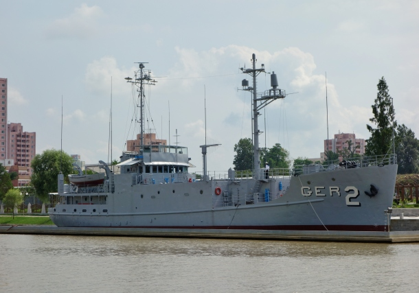 The American ship USS Pueblo, seized by North Korea in controversial circumstances, helps keep tensions with the United States at a high level