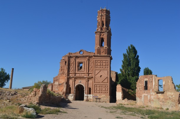 church of San Martin de Tours belchite spain